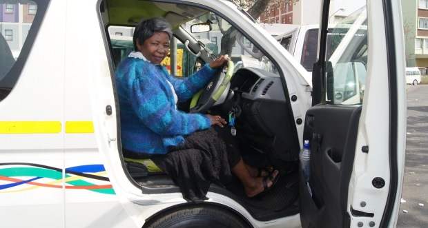 Doris Gumede female taxi driver