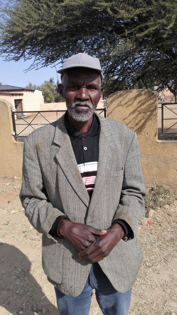 Edwin Bosman, 65, want better health services. Edwin knows what it's like to have no choice.