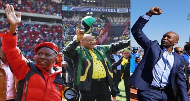 DA ANC EFF leaders Zuma Malema Maimane coalitions