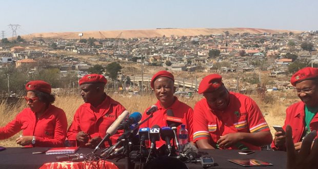 Julius Malema EFF press conference coalition plans