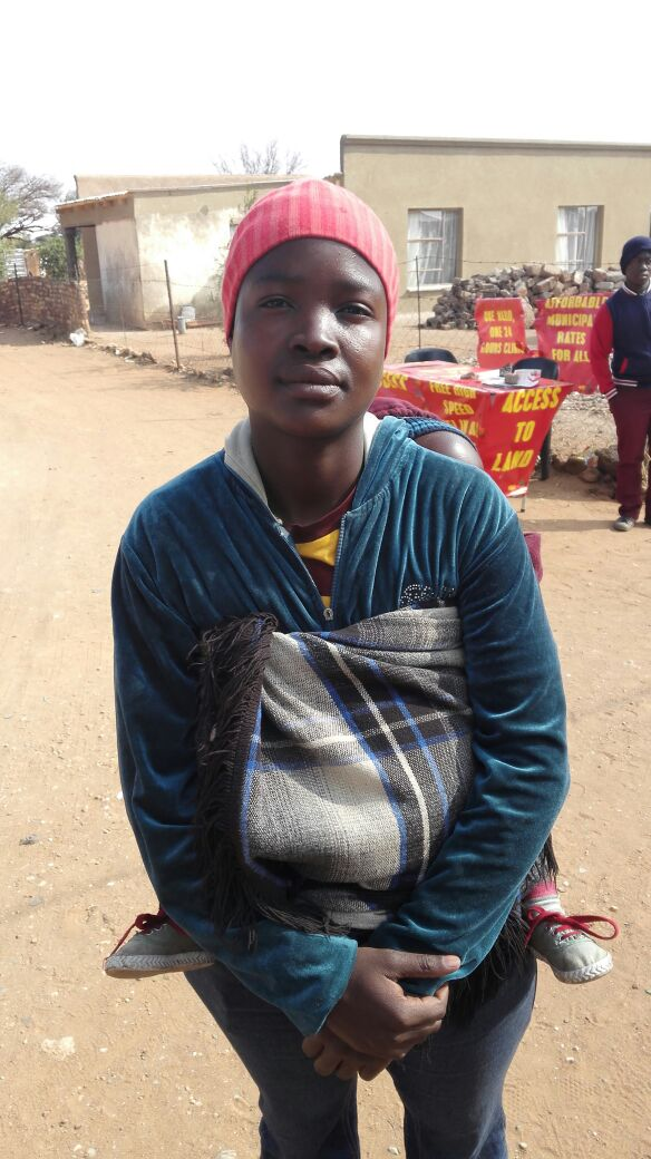 Veronica Dlamini, 24, is a single mom. She's a first time voter and hoping for a better house.