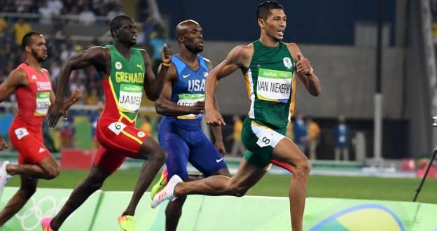 Wayde Van Niekerk Rio 2016 Olympics gold medal race