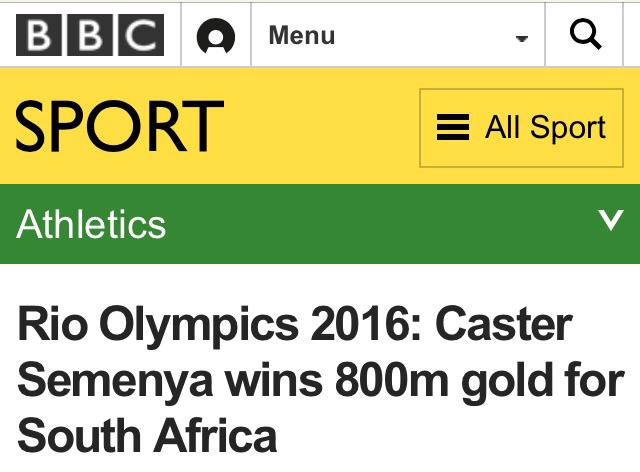 caster headline BBC