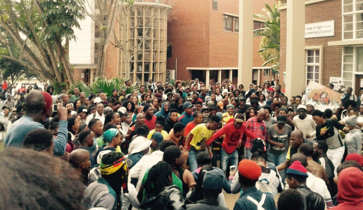 UKZN PMB students protest fees must fall