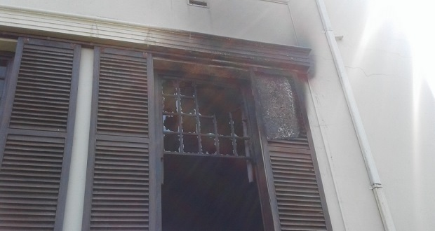 UKZN library burned window howard college