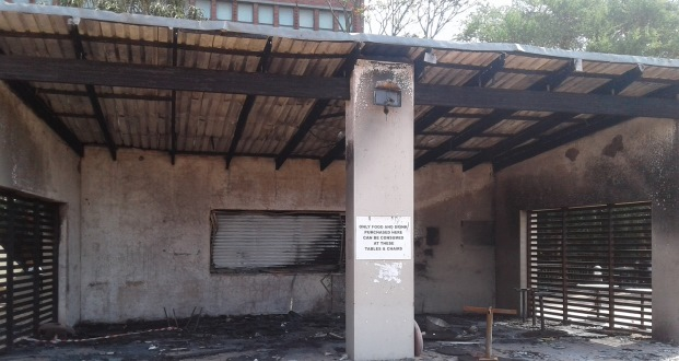 ukzn coffee shop burned fire 1