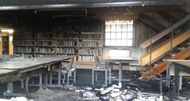 [slider] UKZN burning library fire inside 1