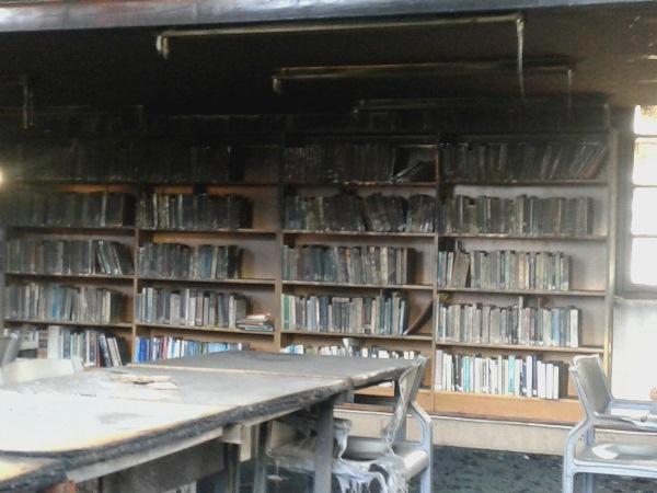 UKZN fire burned library inside 2
