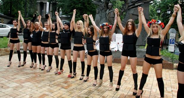 Femen protest white feminism