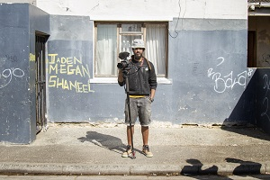 Kurt Orderson stand on Bromwell Street, where he's been documenting the lives of residents who are facing evictions.