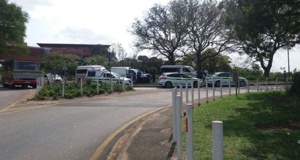 Police cars at UKZN 16 September 2016
