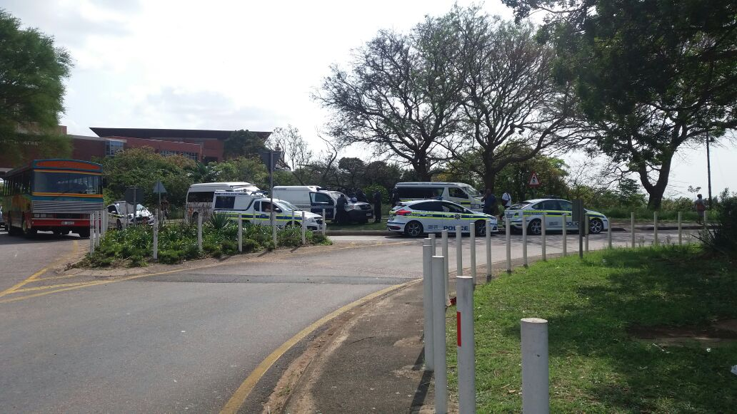 Police cars at UKZN 16 September 2016