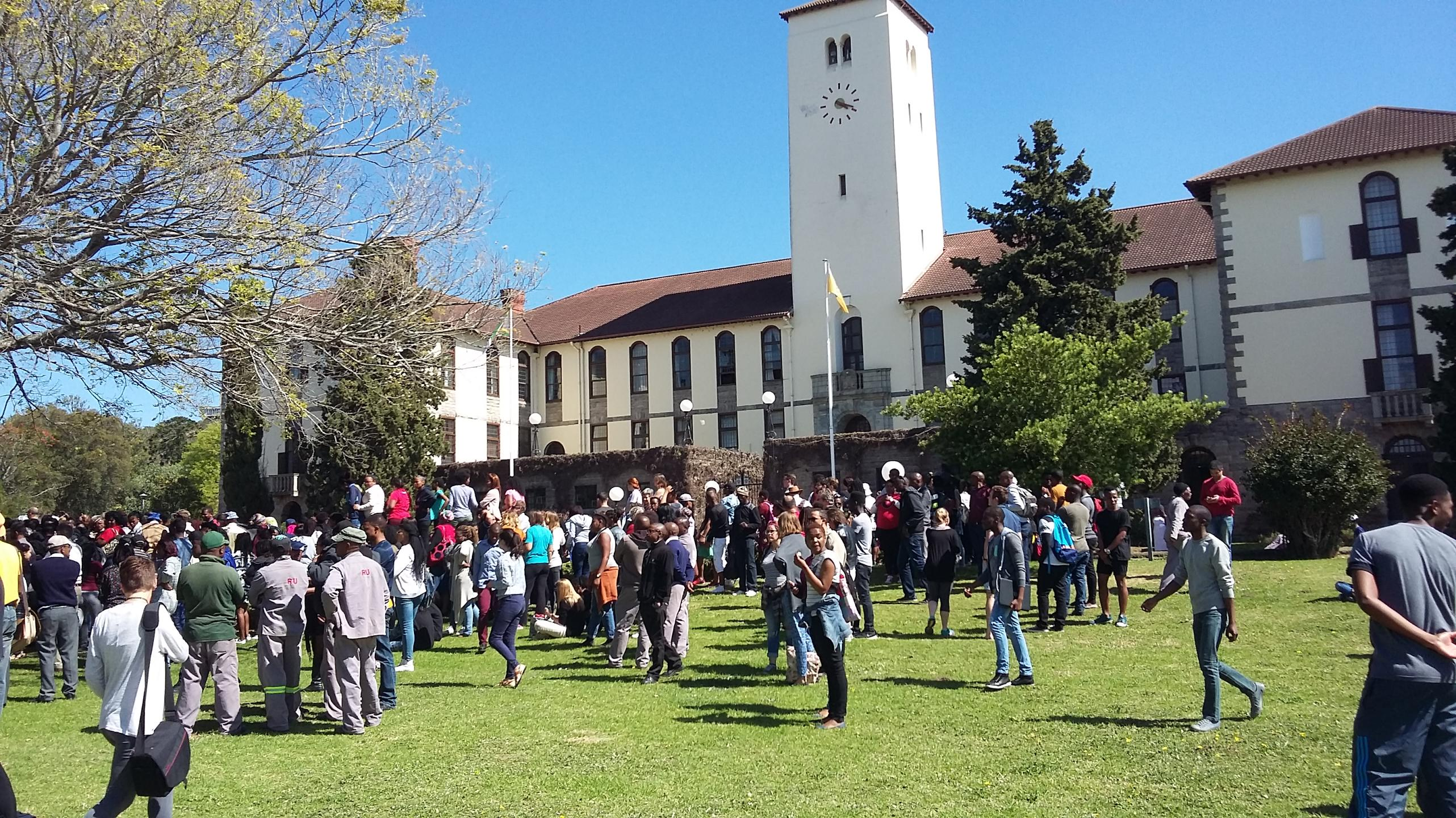 """""""Rhodes becomes the university currently brutalised by police"""""""