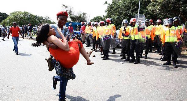 UKZN student shot and being carried