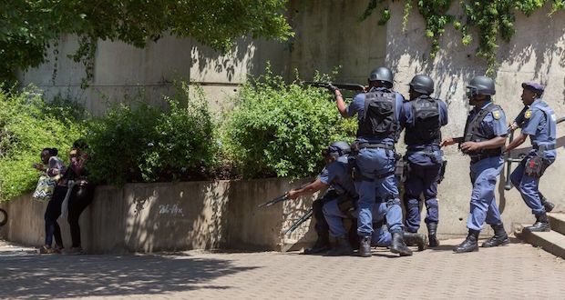 wits feesmustfall protest 10 october 2016 police