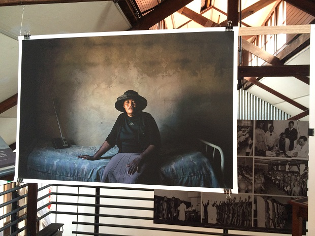 Matsepang Ntsoele at her home in Lesotho.