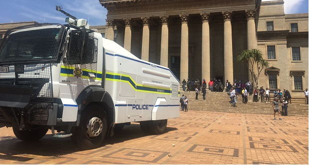 police truck at wits feesmustfall protest 10 october 2016