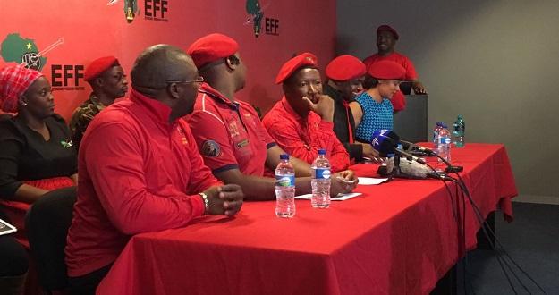 Julius Malema EFF press conference 13 october 2016