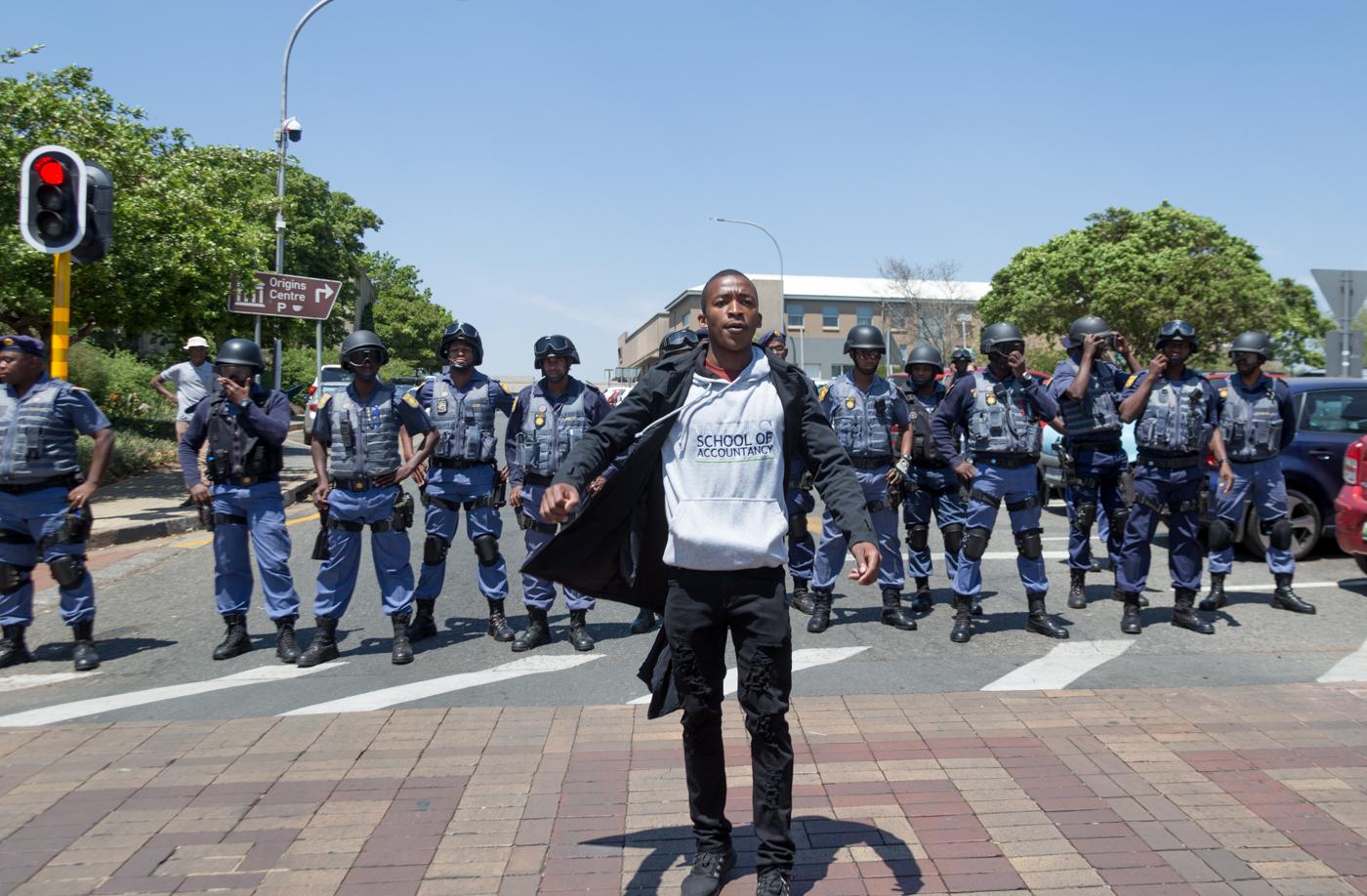wits feesmustfall protest 10 october 2016 braamfontein