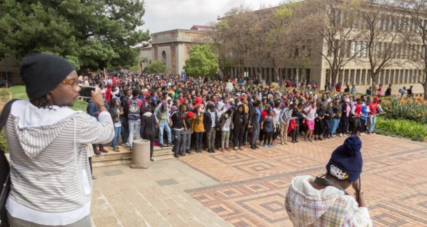 Students at Wits march