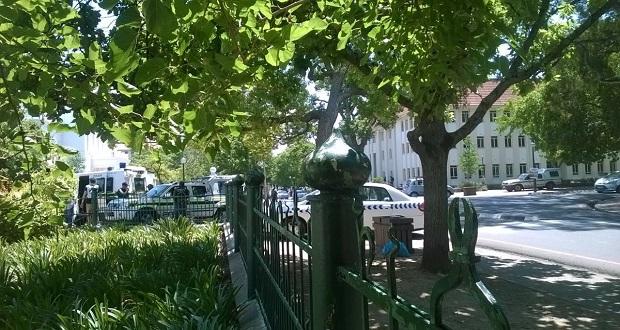 occupy-stellenbosch-police-cars