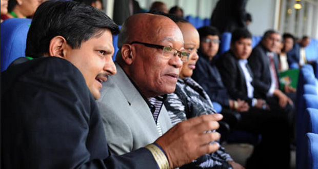 [slider] President Jacob Zuma at the Bidvest Wanderers Stadium for the T20 match between South Africa and India.