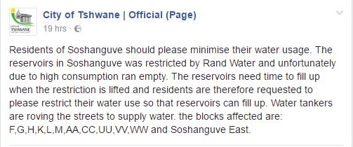 water-restrictions-tshwane-1-facebook-screengrab