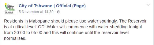 water-restrictions-tshwane-2-facebook-screengrab