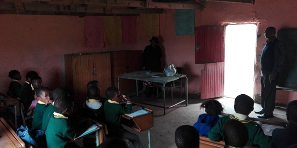 Learners at Ngweni Junior Secondary near Mthatha battle to learn in dark and cold mud classrooms.