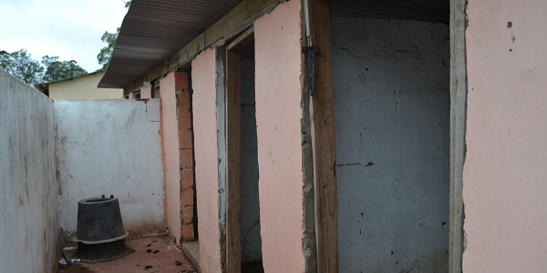 At Lugxogxo Junior Secondary, in Mthatha, toilets are mere holes in the cement floor.