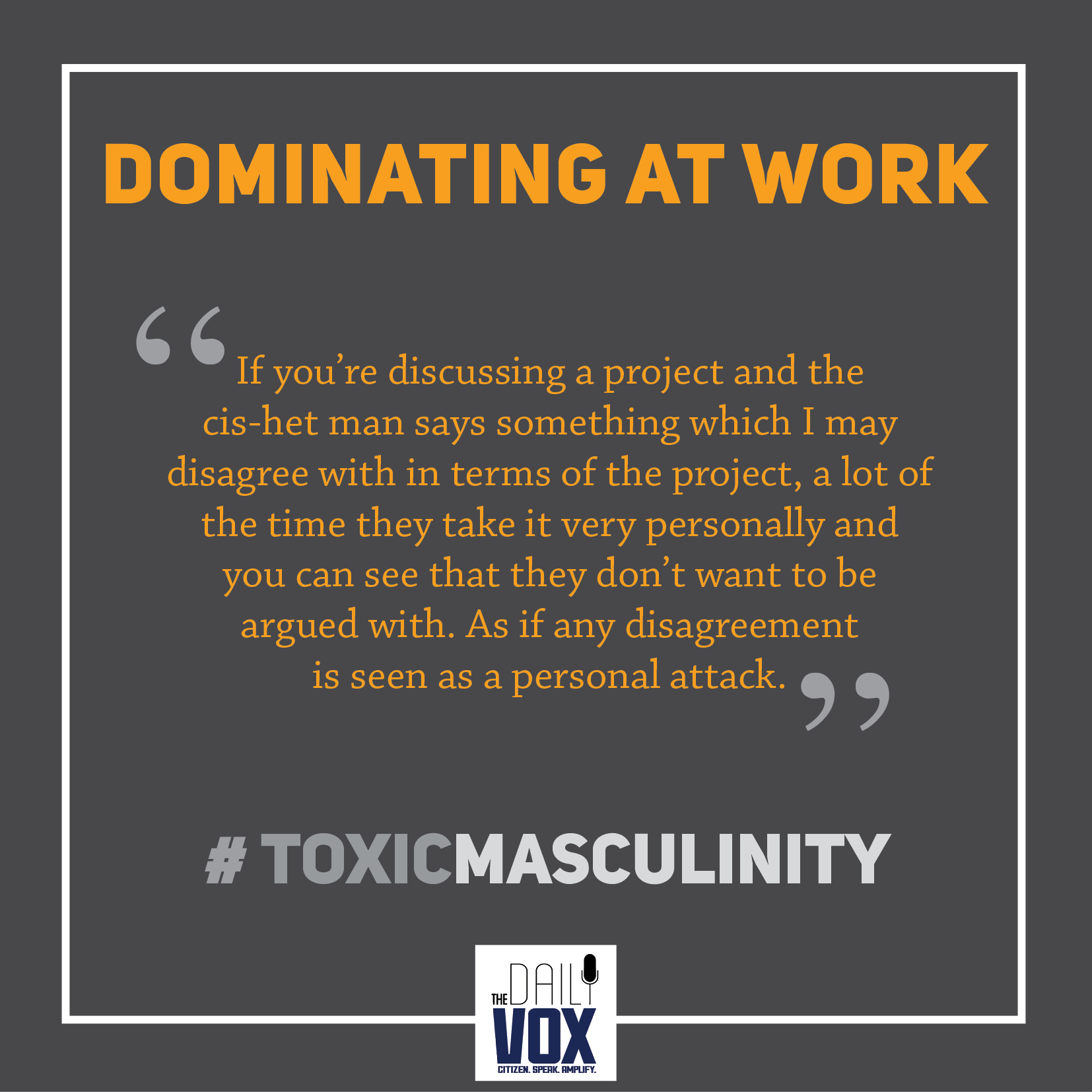 toxic masculinity dominating at work sexism