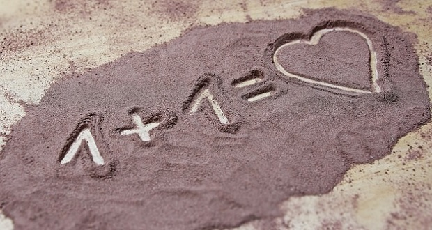 love heart sand