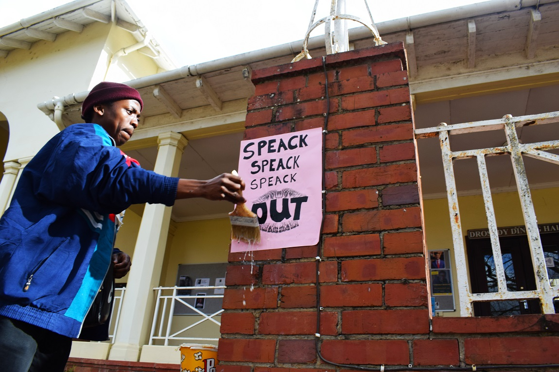Women's Day Poster Making Workshop run by BACK. TALK Womxn's Collective and Indian artist and activist Aqui Thami.
