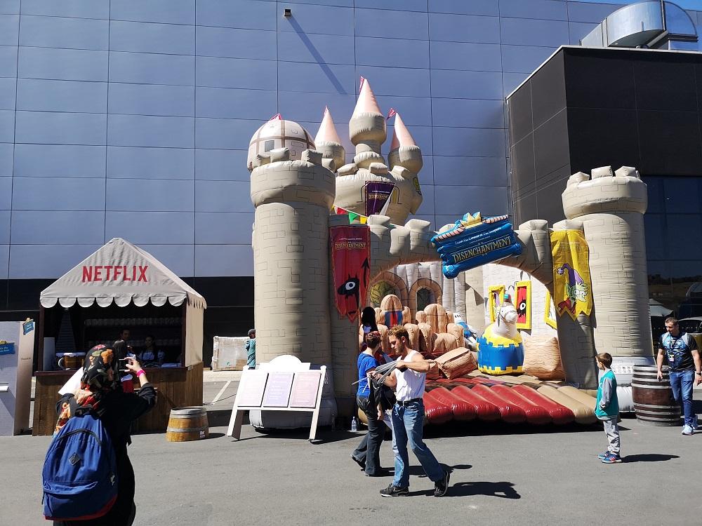 Disenchantment Netflix Jumping Castle, Comic Con 2018